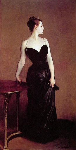"John Singer Sargent, ""Madame X (Madame Pierre Gautreau)"" (1884), Metropolitan Museum of Art"